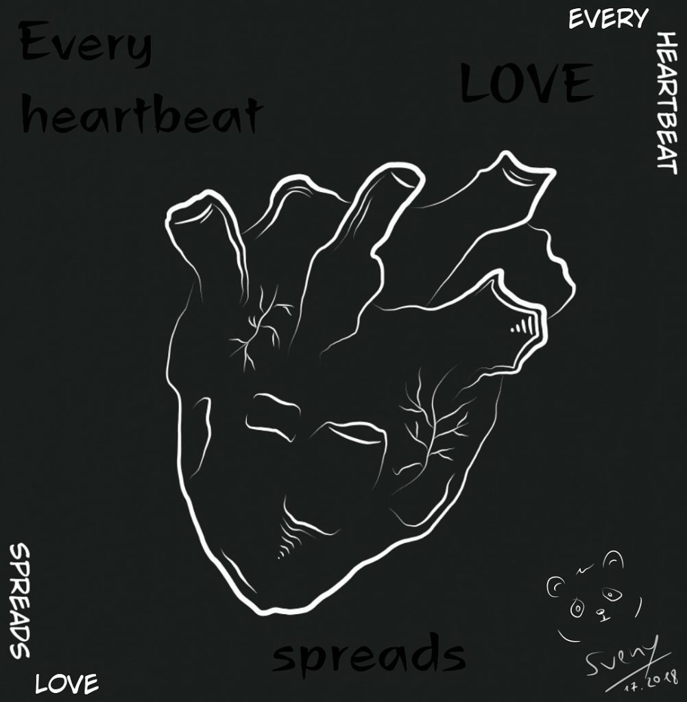 Every heartbeat spreads love
